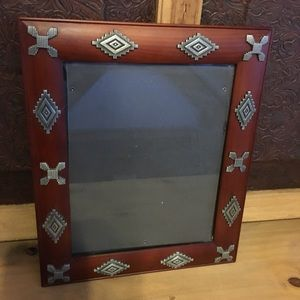 Gorgeous southwest Silver concho 8x10 photo frame
